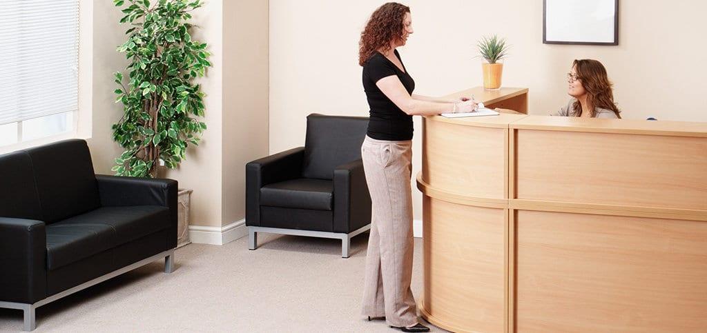 Reception area business furniture